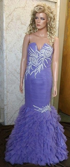 lilac Jewel Embroidered Prom dress