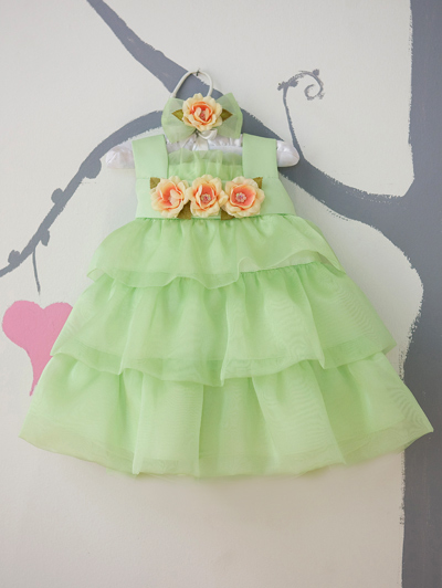 lime green toddler dress