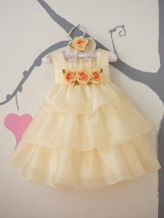 infant yellow ruffled dress