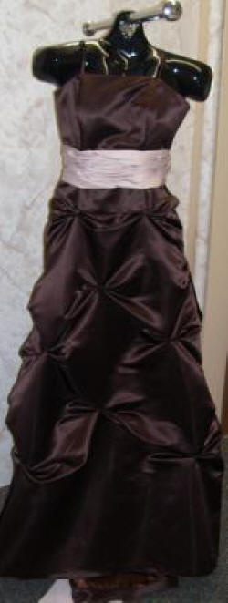junior bridesmaids chocolate brown dresses