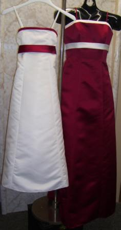 red and white dresses below wholesale