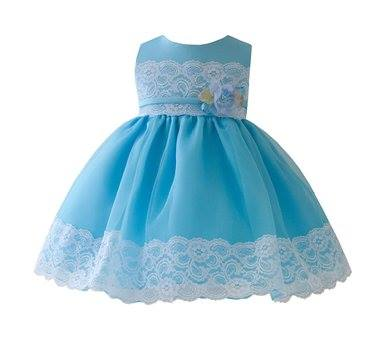 turquoise and white baby girl dresses