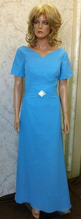 blue chiffon mothers dress
