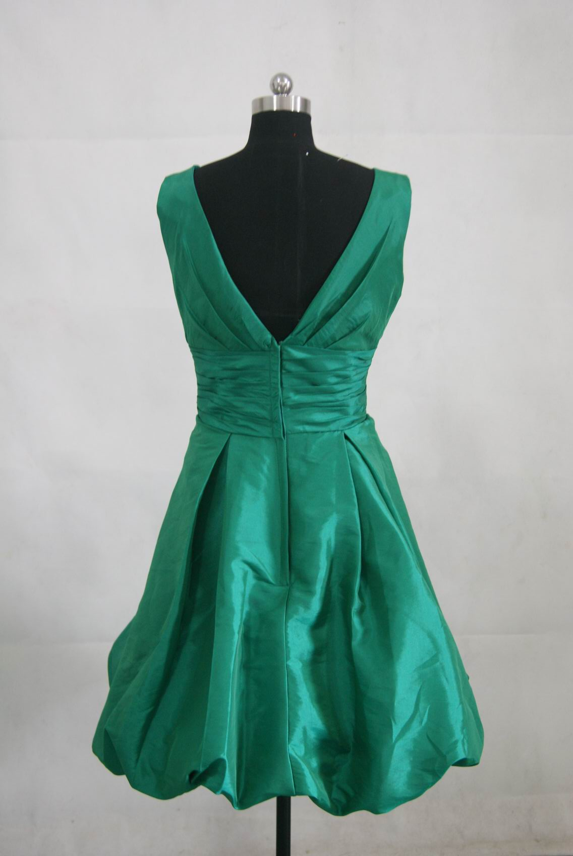 Formal dresses emerald green semi formal dresses for Short green wedding dresses