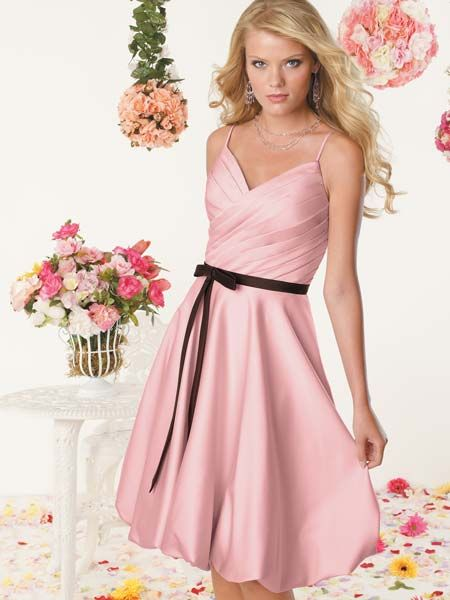 short pink formal dress