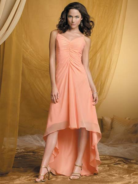 orange beach wedding dress