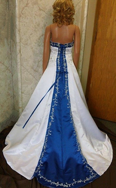 white-Royal-Blue-silver-embroidery-beading