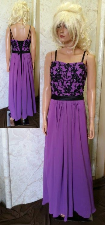 purple black bridesmaid dress