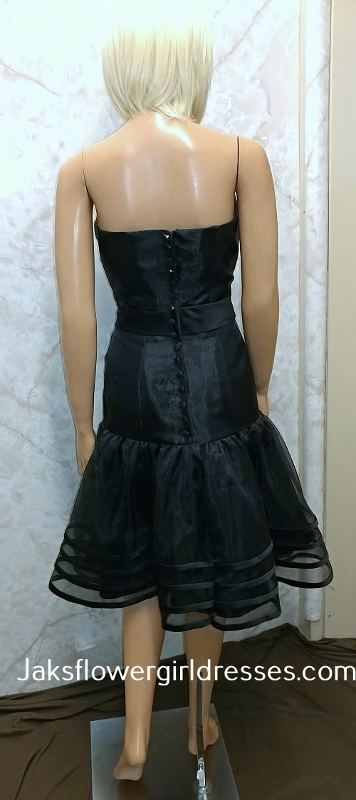 black sheer skirt dress