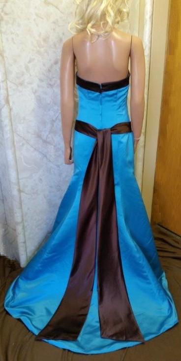 turquoise and chocolate bridesmaid dresses