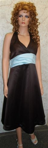 Short chocolate halter dress