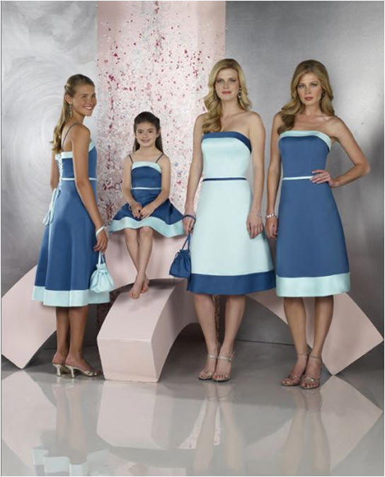 BLUE Wedding party dresses