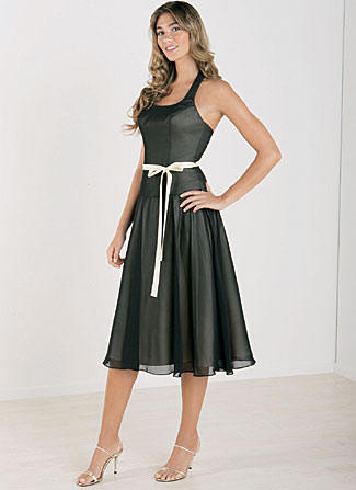 short bridesmaid dresses black