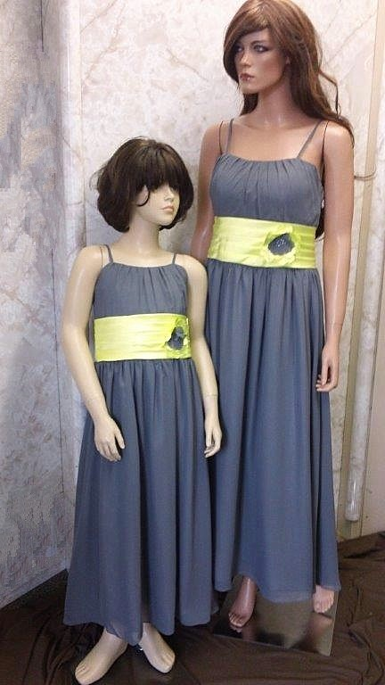 Yellow And Gray Wedding Bridesmaid Dresses 25