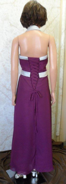 raspberry and silver bridesmaid dress
