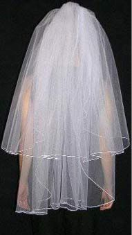 two tier fingertip veil