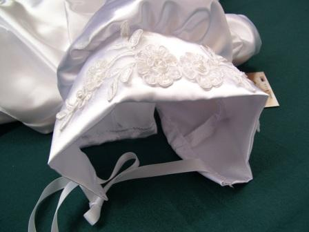christening gowns and bonnet