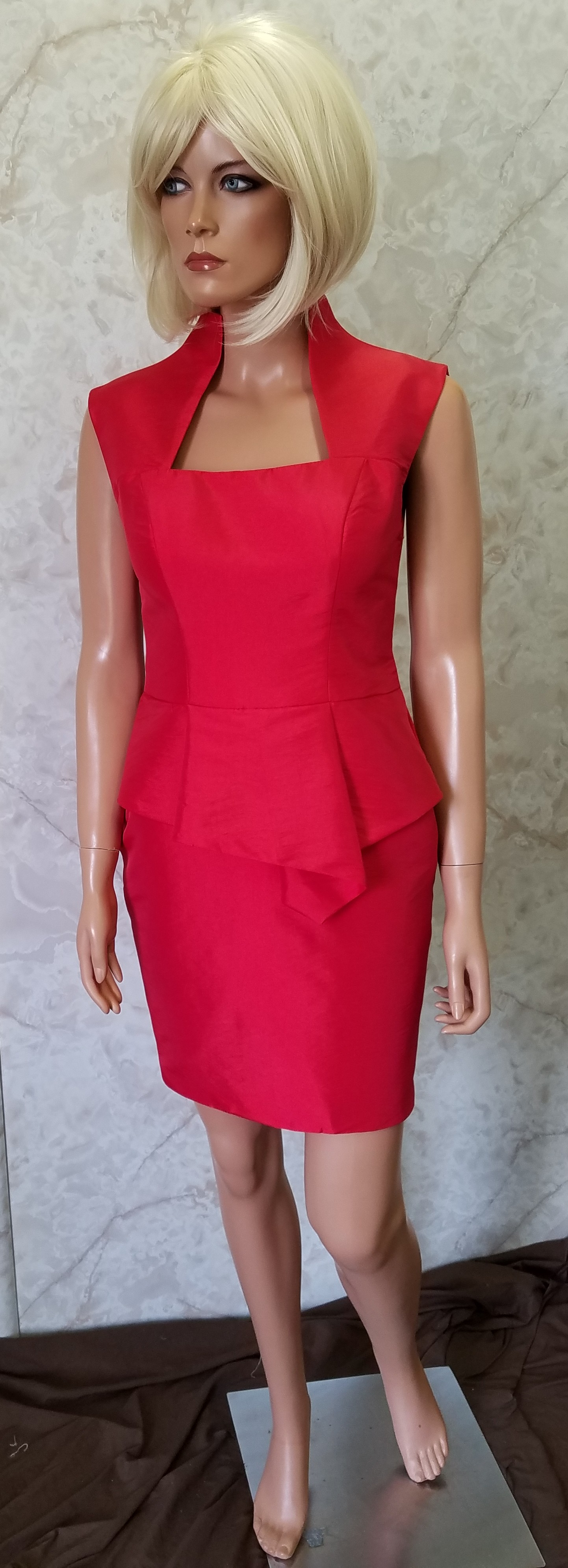 short red business dress