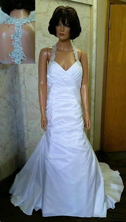 racer back wedding dress