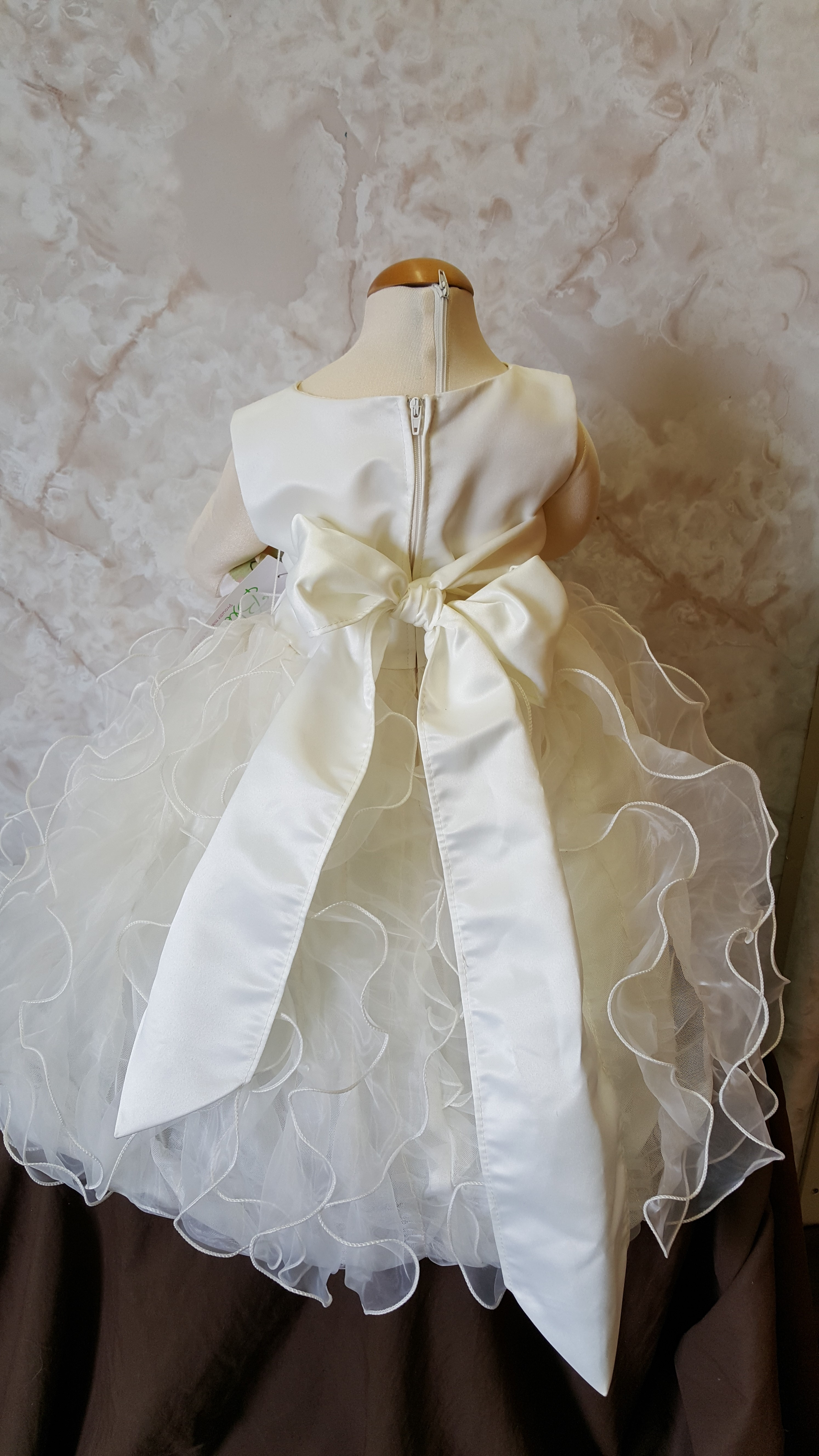 ivory ruffle flower girl dress
