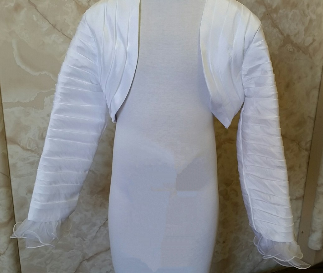 white organza jacket