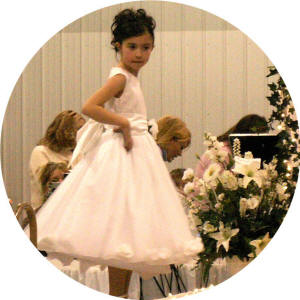 rose petal flower girl dress