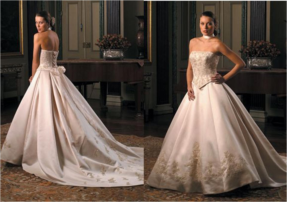 ball gown embroidered wedding dress