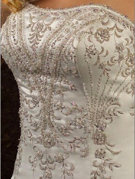 heavy Embroidery Beaded wedding gown bodice