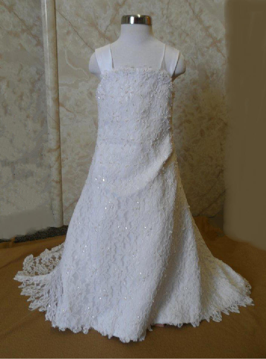 miniature pearl beaded lace miniature bride dress