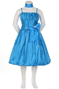 turquoise taffeta dress