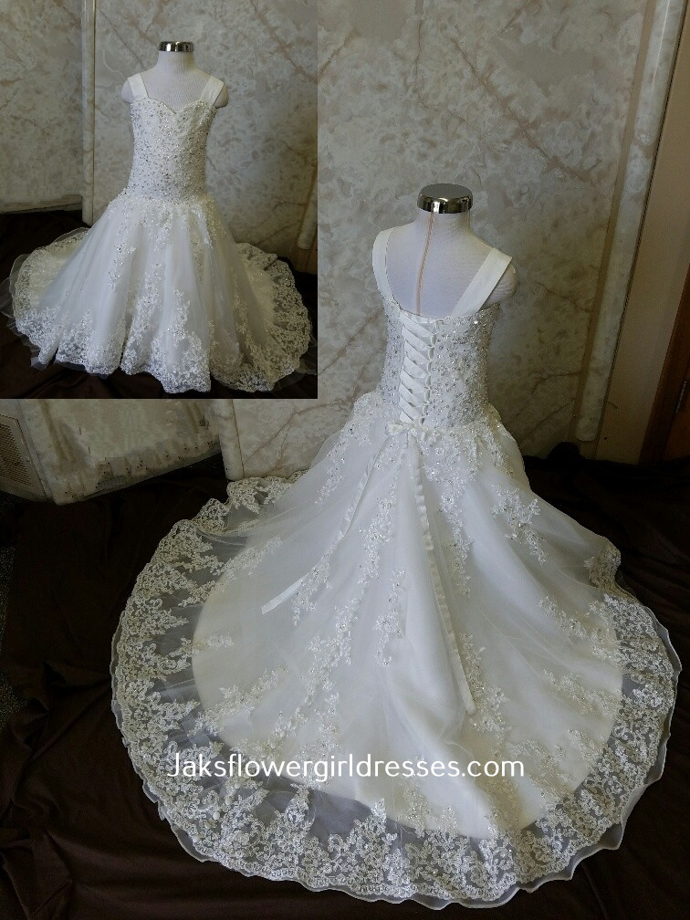 Miniature lace wedding dress