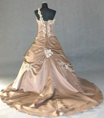 Caramel and Champagne gown