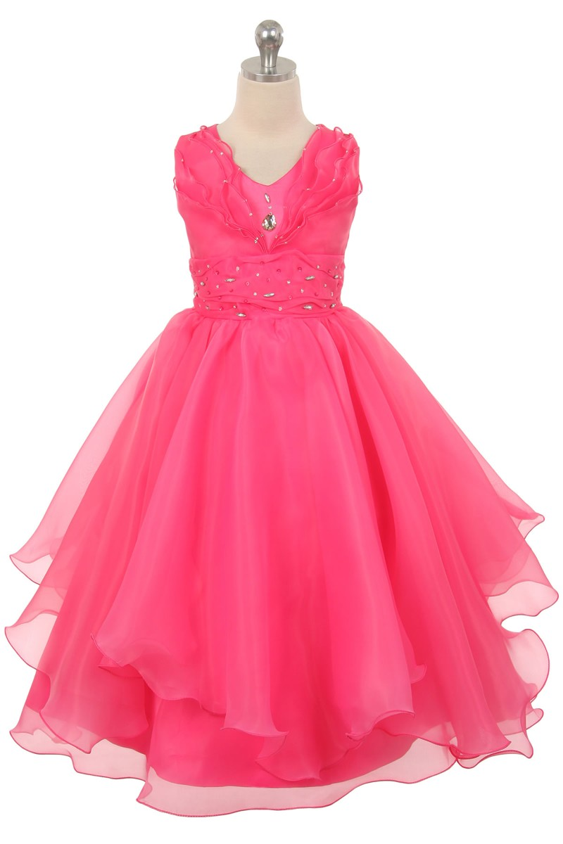 girls fuchsia flower girl dresses