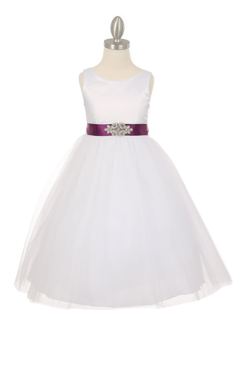 white and plum childrens dresses