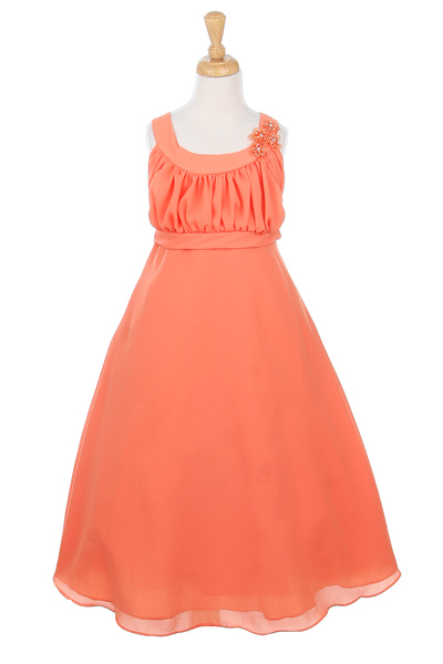 bridesmaid plus size dresses in orange
