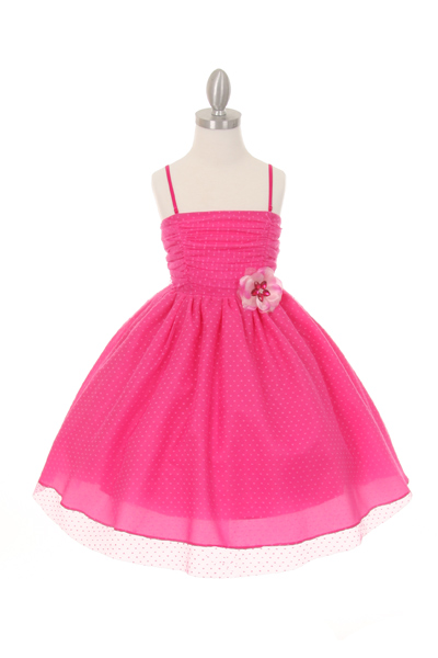 fuchsia little girl easter dresses