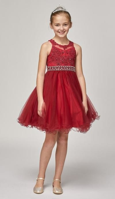 girls short red dress