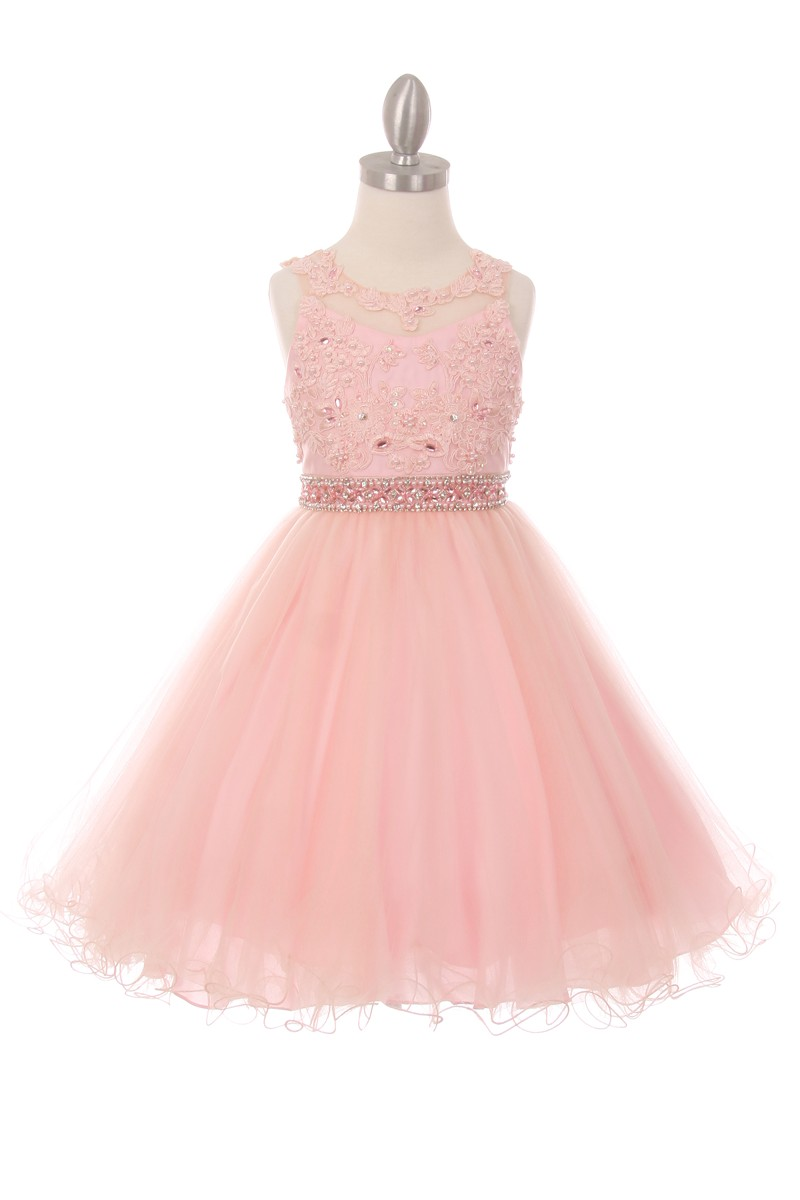 pink big girls dresses