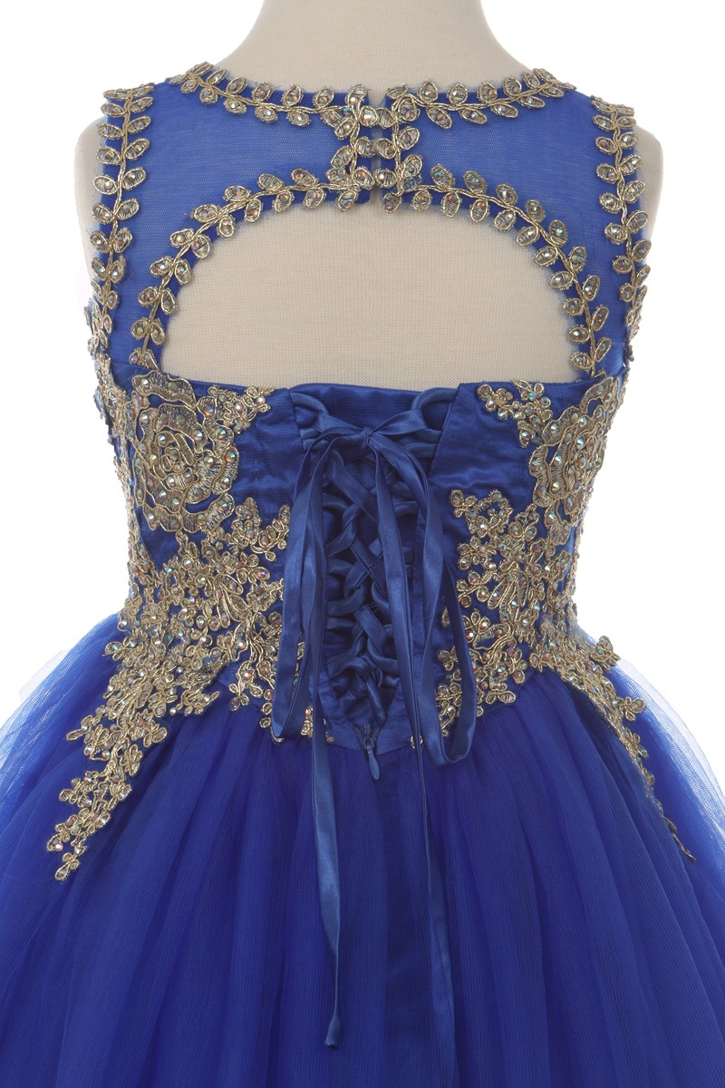short open back pageant dress