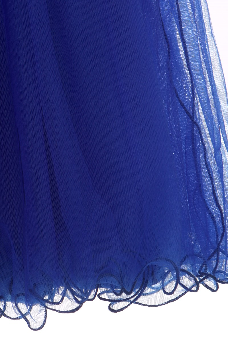 Multi layered fully lined tulle with coiled wired hem