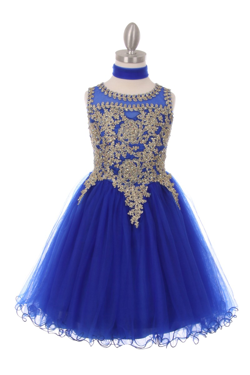royal blue girls dresses