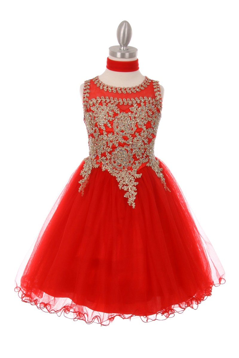 red Girls big size dresses