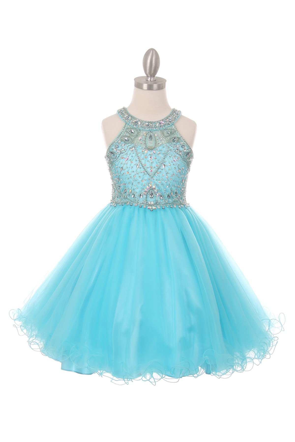 aqua girl dresses for special occasions
