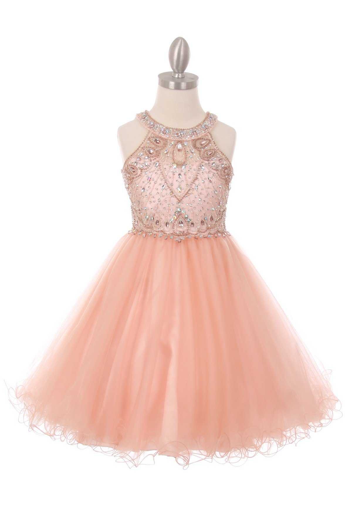 blush special occasion girl dresses