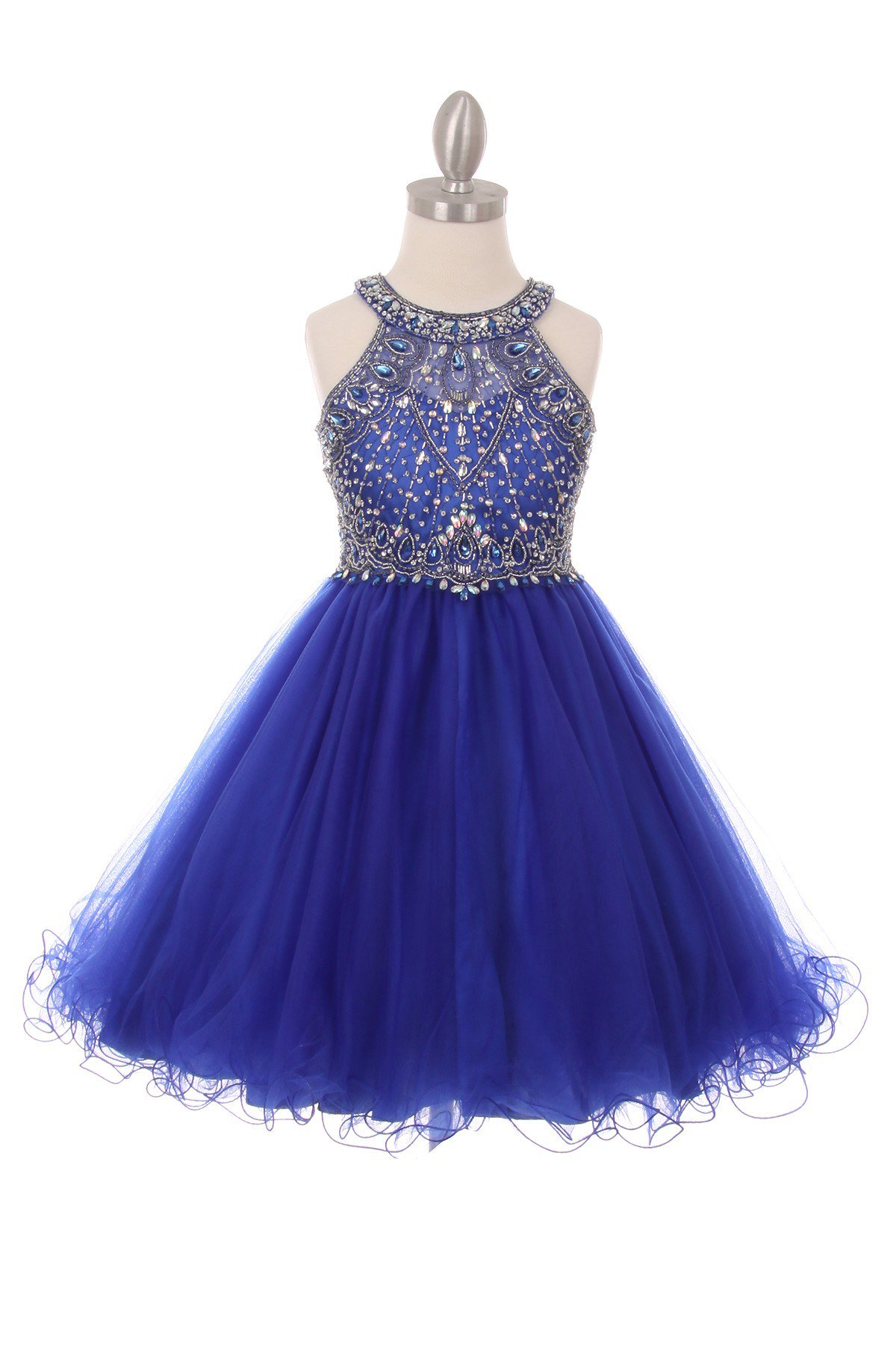 royal blue special occasion girl dresses