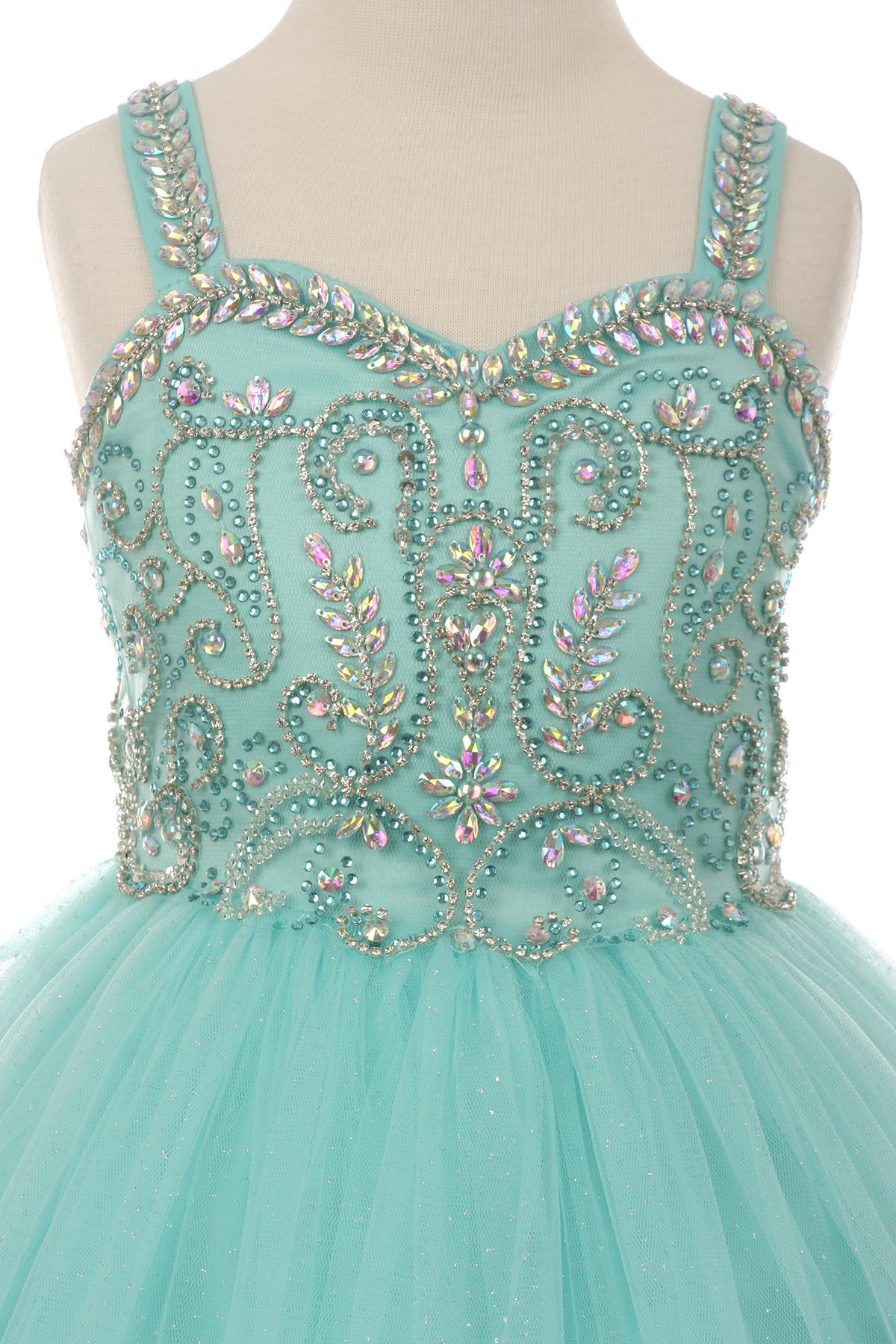 2 piece rhinestone dress