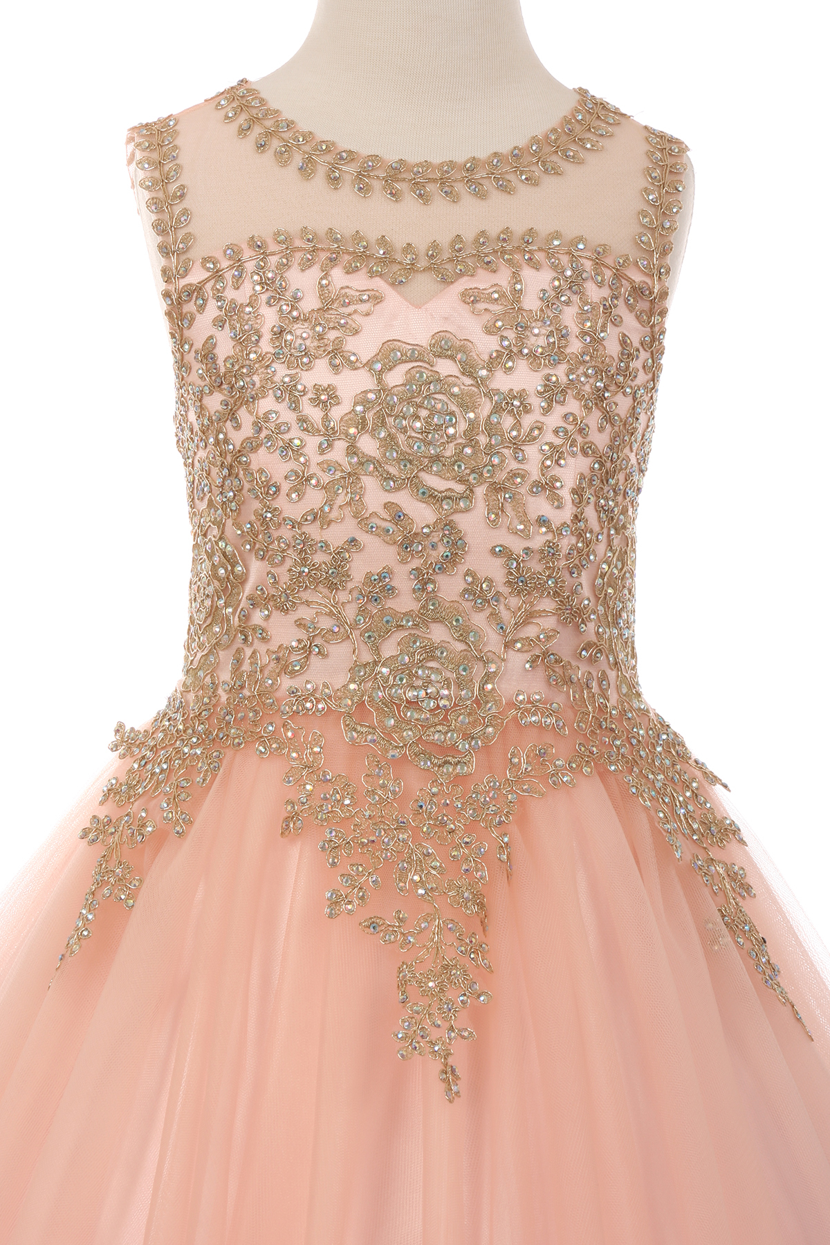 Sparkling illusion rhinestone party tulle dress