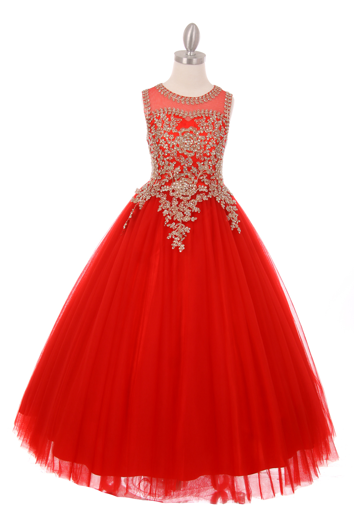 Red Junior Bridesmaid Ball Gowns