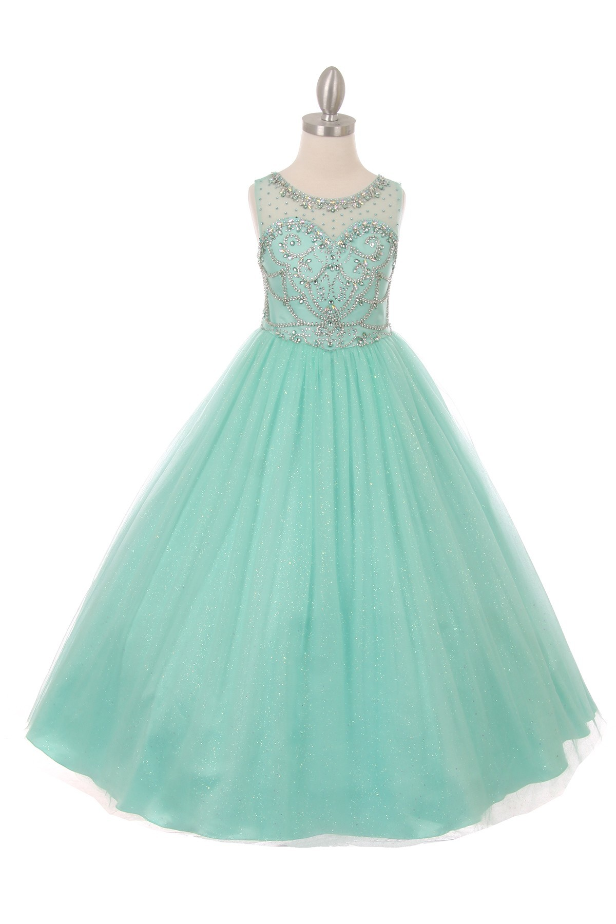 mint green girls pageant dresses