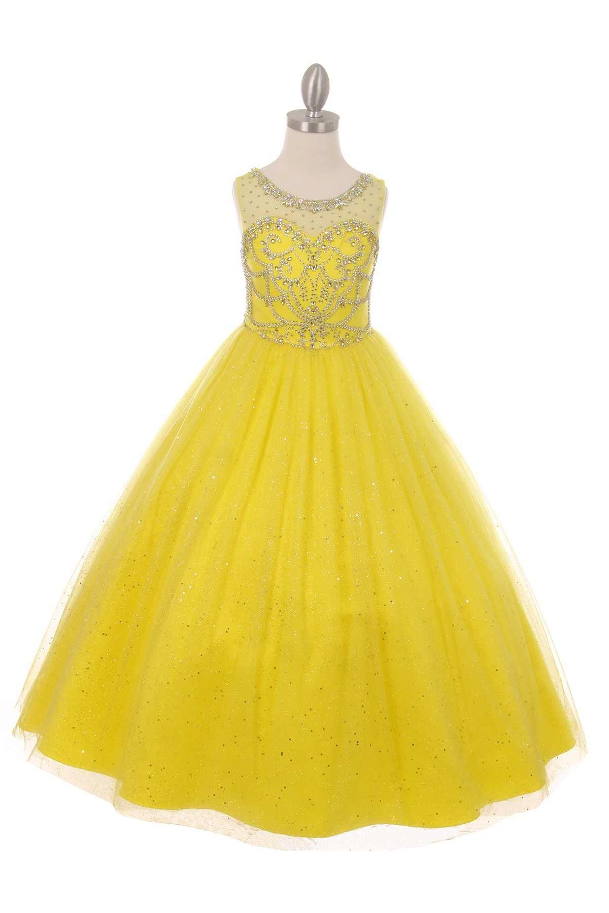 girls yellow dress